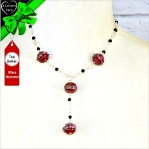 Jewelry - NEW Painted Beads Adjustable Y Necklace #0M